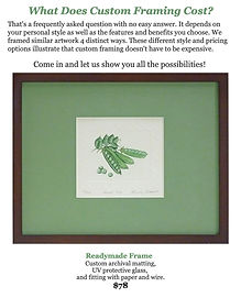 $78 Custom Picture Framing