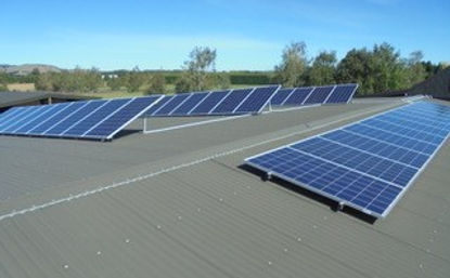 Angled Solar Panel Installation Christchruch