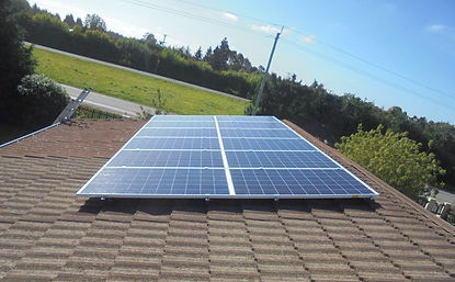 Solar Panel Install on tile roof Christchurch