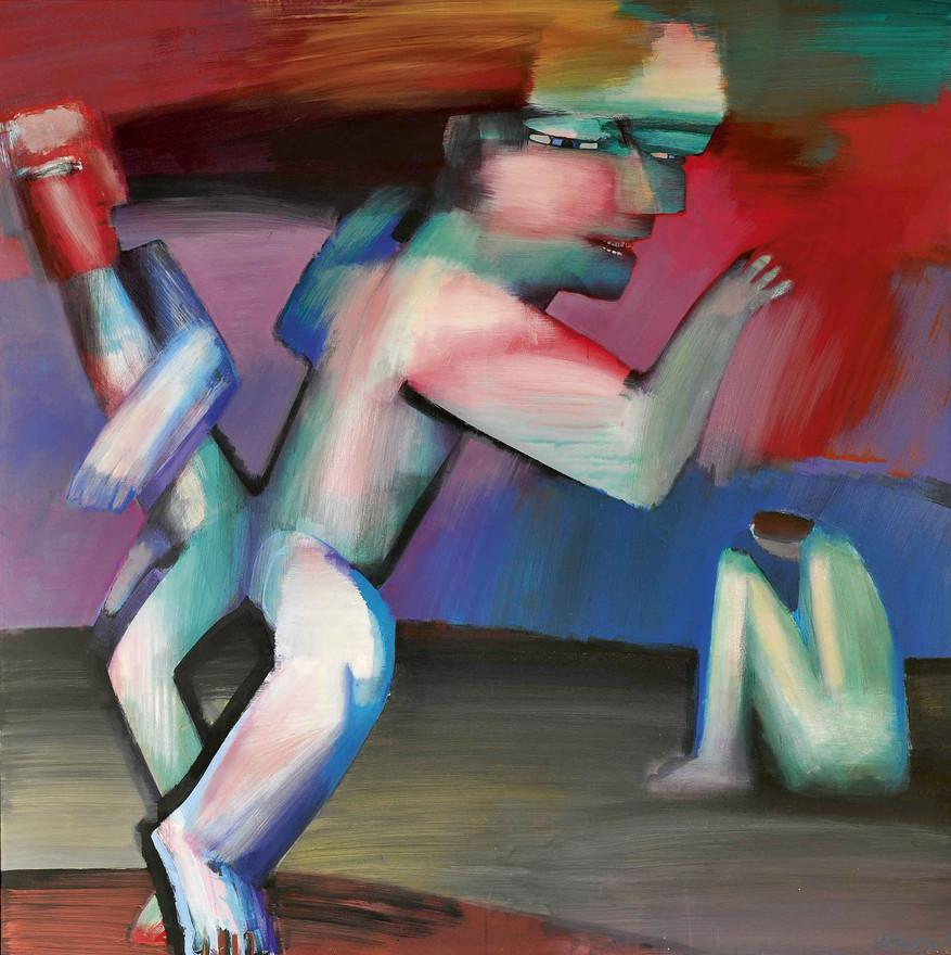 Afsked, 1989, akryl på lærred.