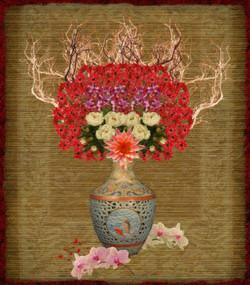 Vase On Bamboo