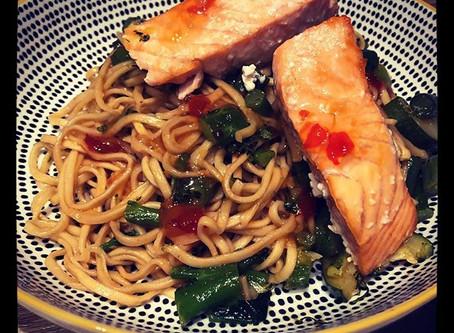 Teriyaki Salmon Noodles