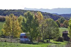 Vue Trois Becs depuis le haut du camping.
