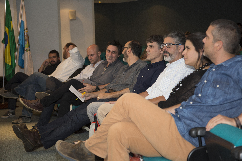 Palestrantes e moderadores do evento