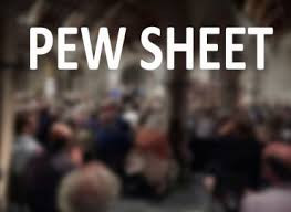 Pew Sheet