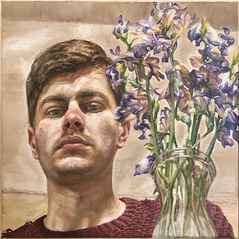 Self-Portrait with Dead Flowers, 2020