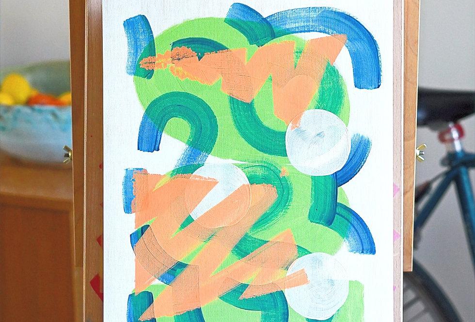 Eddie - A3 Original Acrylic on 300 gsm Canvas Paper