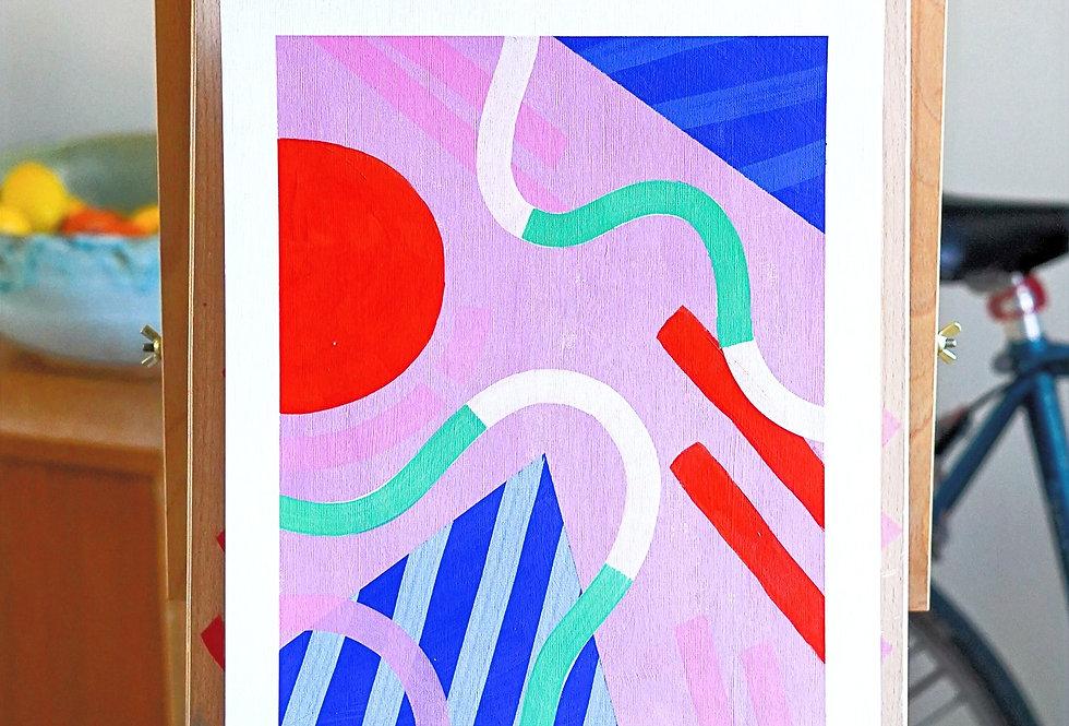 Mahmoud - A3 Original Acrylic on 300 gsm Canvas Paper