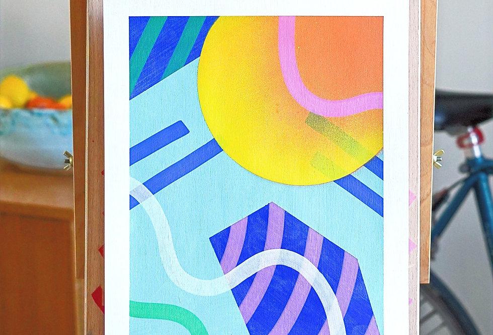 Doug - A3 Original Acrylic on 300 gsm Canvas Paper