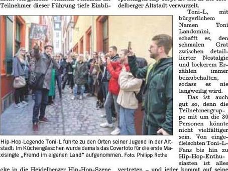 Berichte über Hip Hop in Heidelberg in der Rhein-Neckar-Zeitung