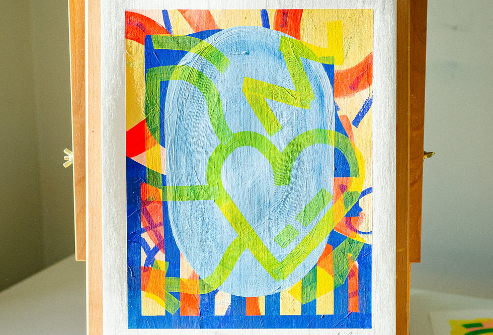 Gerry - A3 Original Acrylic on 300 gsm Canvas Paper
