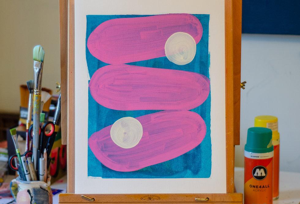 Carla - A3 Original Acrylic on 300 gsm Canvas Paper