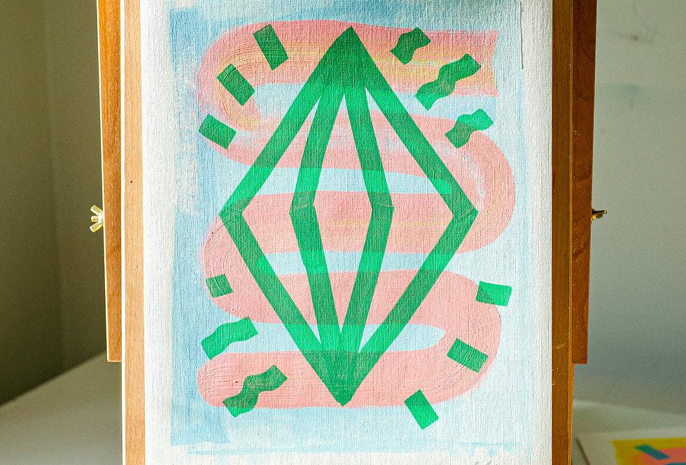 Sonny - A3 Original Acrylic on 300 gsm Canvas Paper