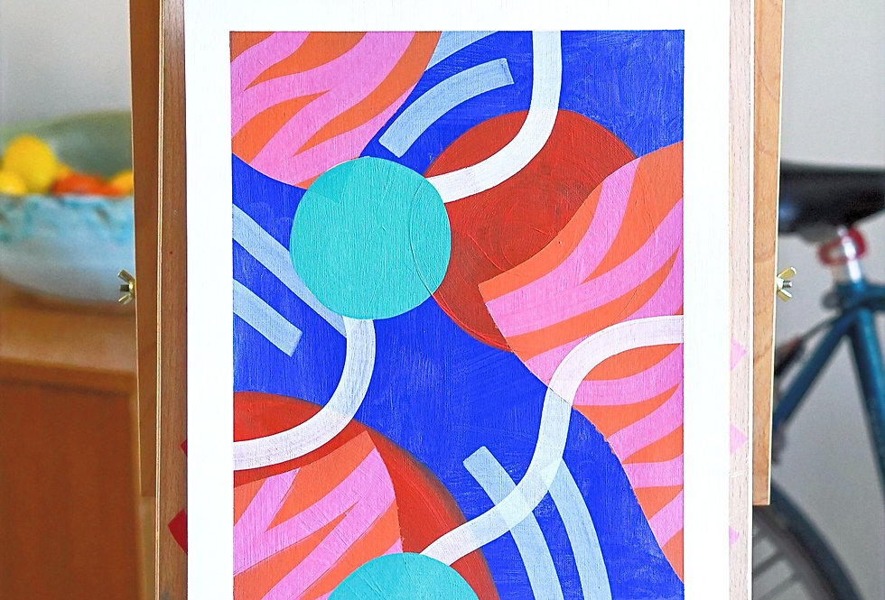 Jean - A3 Original Acrylic on 300 gsm Canvas Paper