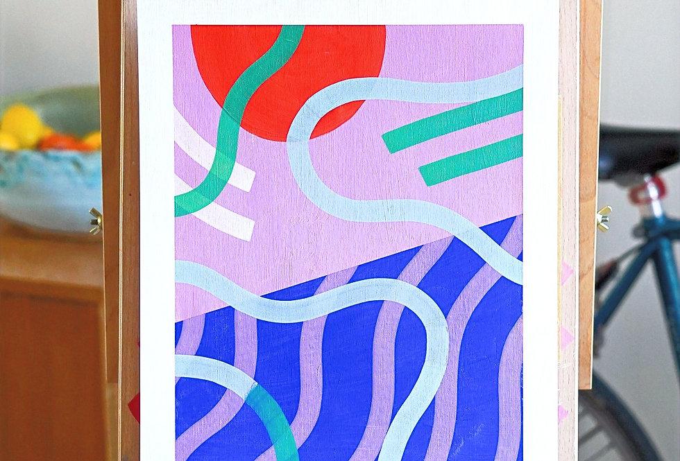 Stefano - A3 Original Acrylic on 300 gsm Canvas Paper