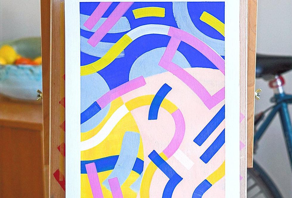 Patti - A3 Original Acrylic on 300 gsm Canvas Paper