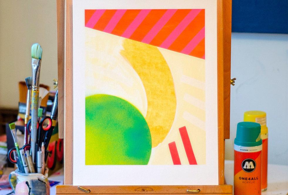 Nancy - A3 Original Acrylic on 300 gsm Canvas Paper