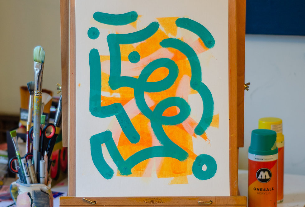 Dee Dee - A3 Original Acrylic on 300 gsm Canvas Paper
