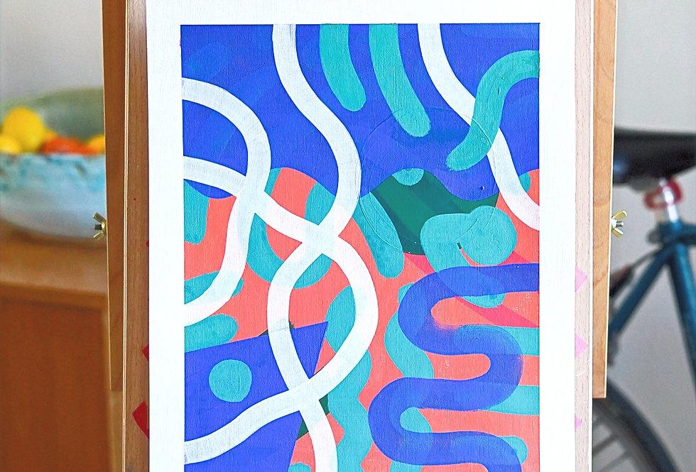 Fana - A3 Original Acrylic on 300 gsm Canvas Paper
