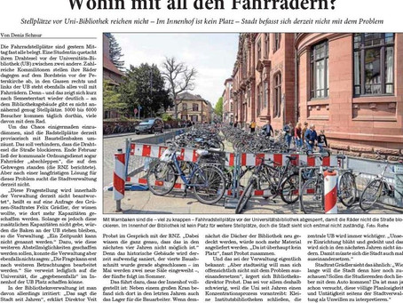 Fahrradparkplätze in der Altstadt