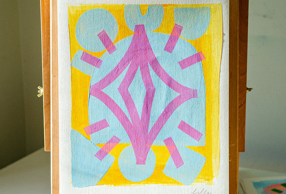 Benny - A3 Original Acrylic on 300 gsm Canvas Paper