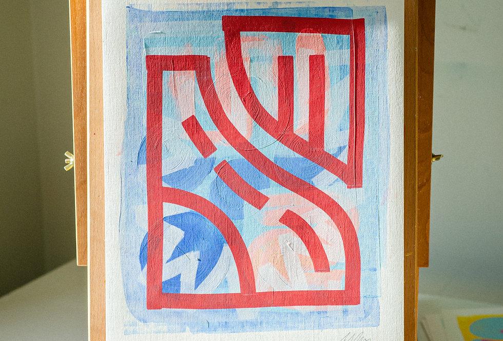 Sarah - A3 Original Acrylic on 300 gsm Canvas Paper