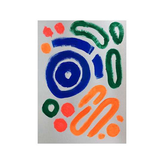 Petani - A3 Original Acrylic on 250 gsm Paper