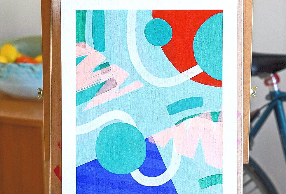 Phum - A3 Original Acrylic on 300 gsm Canvas Paper