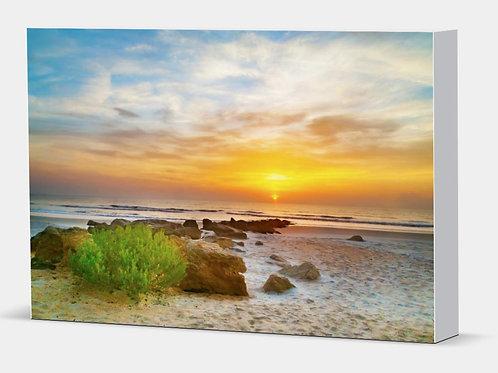 "Another Coquina Sunrise - Canvas Wrap White Edge 1.5"" Frame"