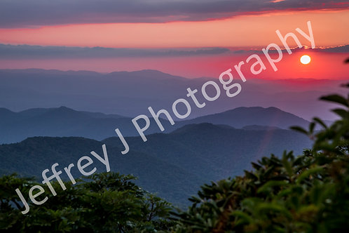 Blue Ridge Sunset - Metal Print
