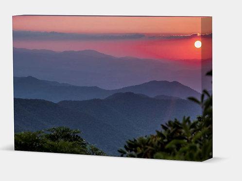 "Blue Ridge Sunset - Canvas Wrap Full 1.5"" Frame"