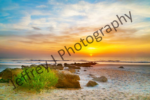 Another Coquina Sunrise - Mounted Photo Paper Print