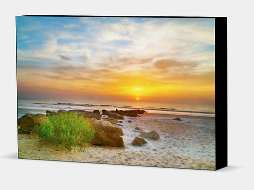 "Another Coquina Sunrise - Canvas Wrap Black Edge 1.5"" Frame"