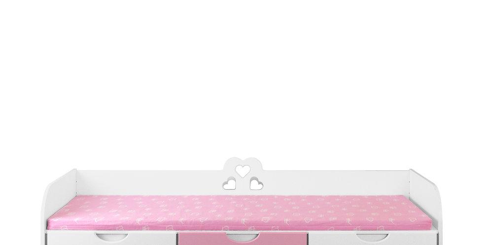 Скамейка для девочки с выкатными ящиками для игрушек