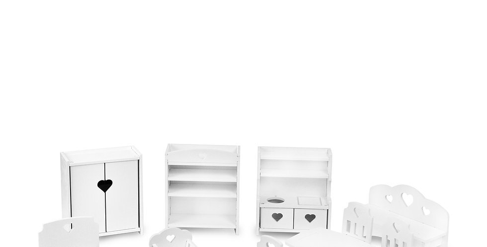 Комплект мебели для кукол 15-20 см