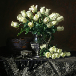 White Roses and Silver