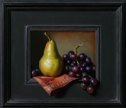 Pear and Emerging Grapes