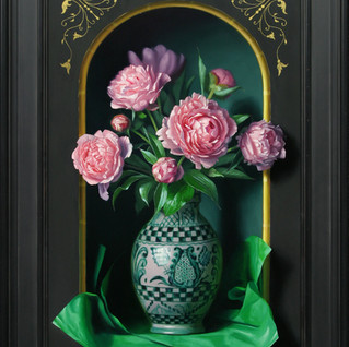 Pink Peonies in Niche