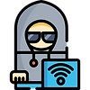 hacker hijacking unsecured wireless network