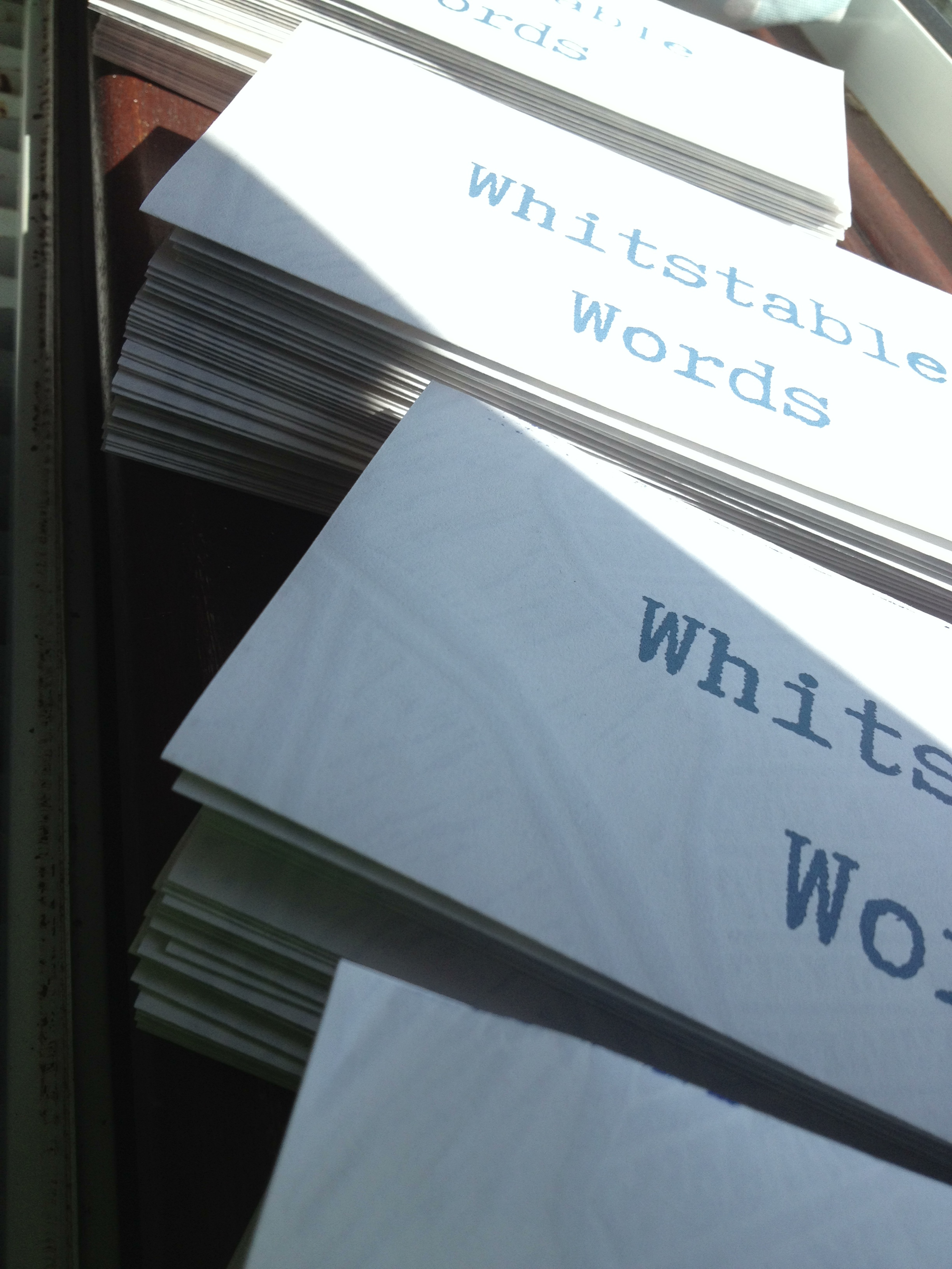 Whitstable Words map leaflets