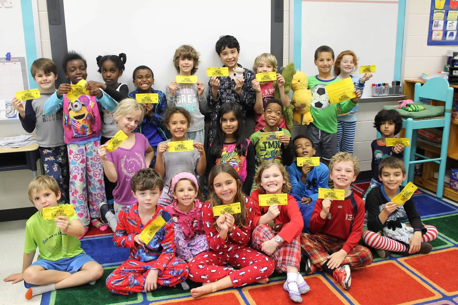 2nd grade pajama day