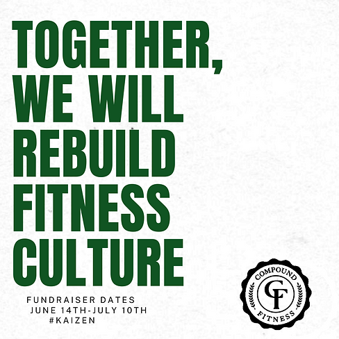 together, we will rebuild fitness cultur