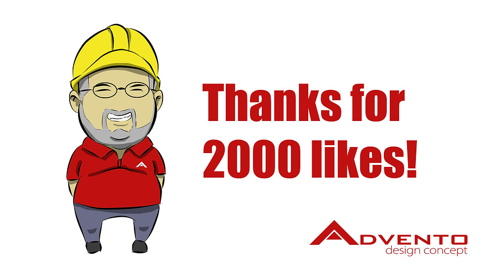 2000 Likes for Advento Desig Concept
