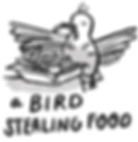 A bird stealing food freimuth