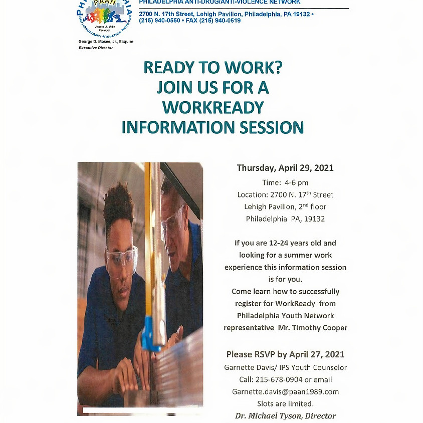 Work Ready Information Session