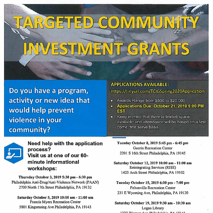 Targeted Community Investment Grants