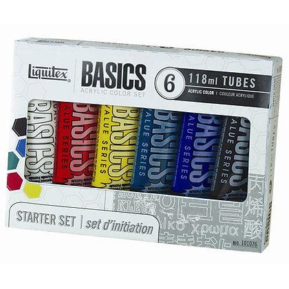 Liquitex® Basics Acrylic Paint Set - 4 oz Tubes - 6 pieces