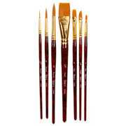 Studio 71 Taklon Brush Set - Gold - 7 pieces