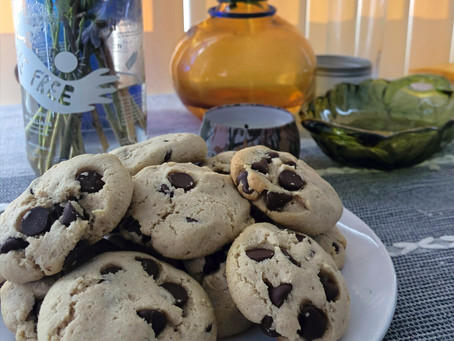 Gluten Free/ Dairy Free/ (Almost) No Sugar Added Chocolate Chip Cookies
