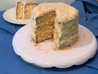 Chloe's Wedding Cake (AKA Passionfruit Filled Coconut Cake)